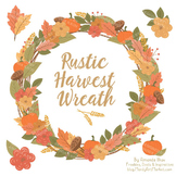 Fall Harvest Wreath in Antique Peach