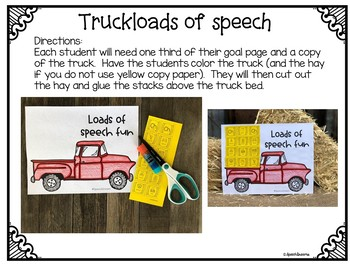 Fall Hayride Truck Speech Therapy Cut and Paste Activity for Artic & Language
