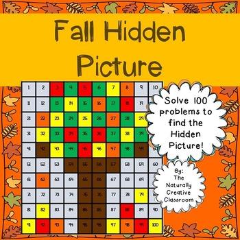 Fall Hundred Chart Hidden Picture