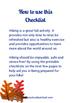 Fall Hiking Checklist