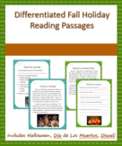 Fall Holiday Differentiated Reading Passages