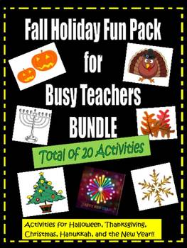 Fall Holiday Fun Pack for Busy Teachers- Bundle