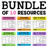 Mini Books and Activities - Fall Bundle