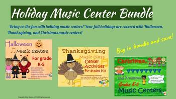 Fall Holiday Music Centers Bundle