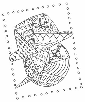 Fall Holiday Snowman Coloring Design