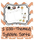 Fall Holiday Syllable Sort