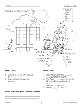 Fall Holiday Word Search & Crossword Puzzles