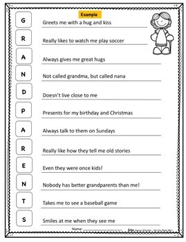 Fall Holidays Acrostic Poem & Craftivity - Graphic Organizers, Poem Pages