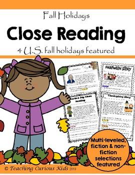 Fall Holidays Close Reading