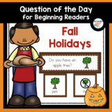 Fall Holidays Question of the Day for Preschool and Kindergarten
