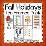Fall Math: Ten Frames for Halloween, Thanksgiving & Veterans Day