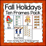 Fall Holidays Ten Frames Unit (Monsters, Turkeys and Military)