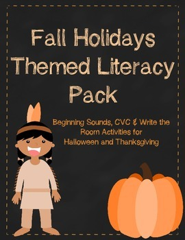 Fall Holidays Themed Literacy Pack