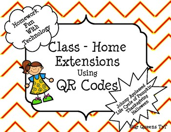 Fall Homework Bundle using QR Codes (JAppleseed,Pumpkins,H