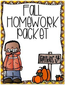 Fall Homework Printables