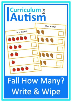 Fall Autumn Counting to 5, How Many? Autism Special Education