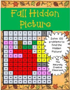 Fall Hundred Chart Hidden Picture K-1