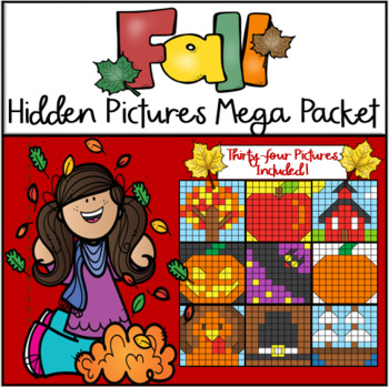 Fall Hundreds Chart Hidden Picture Mega Pack