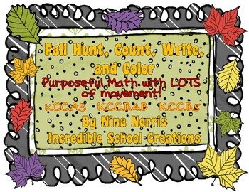 Fall Hunt, Count, Write & Color