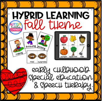 Fall Hybrid & Distance Learning for Preschool Special Education & Speech Therapy