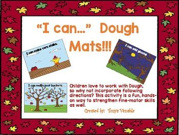 """Fall """"I Can"""" Dough Mats"""