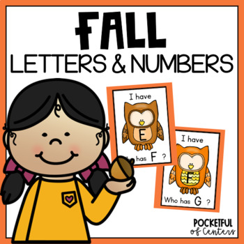 "Fall ""I Have, Who Has?"" Letter Recognition Game"