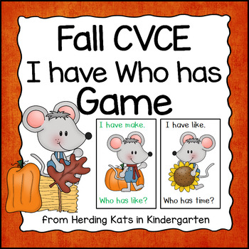 Fall CVCE Word I have Who has Game