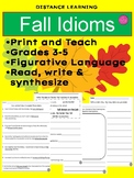 ~DISTANCE LEARNING~Fall Idioms