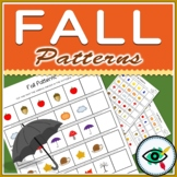 Fall Image Patterns Printable Distance Learning
