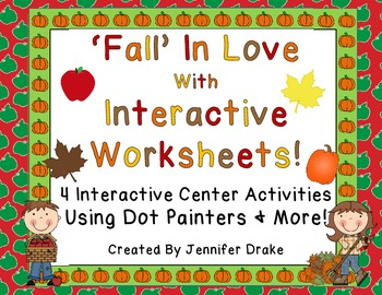 'Fall' In Love With Interactive Worksheets!  CC Aligned!