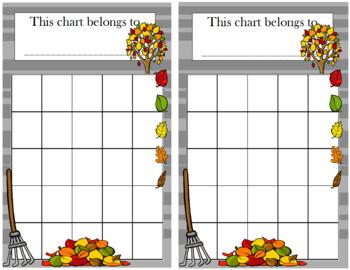 Fall Incentive Chart