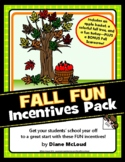 Fall Fun Incentives Pack (September, October, November)