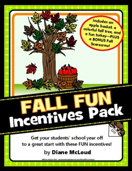 Fall Incentives Pattern Packet (September, October, November)