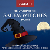 Fall Informational Reading - The Mystery of the Salem Witches