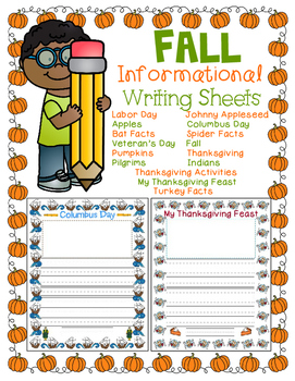 Fall Informational Writing Seets