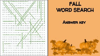 Fall Ingredient Word Search; FACS, Culinary, Bellringer Seasons, Cooking, Autumn