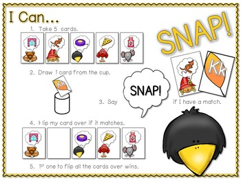 PHONICS ~ SNAP! Initial Sounds Phonics Game