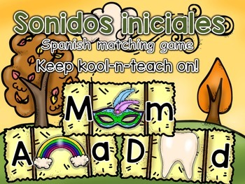 Fall Initial sounds spanish/ Sonidos Iniciales