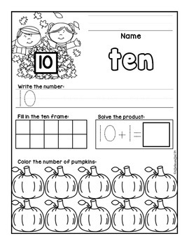 Fall Ink Savin' Printables and Activities