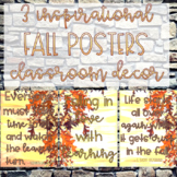 Fall Inspirational Posters Classroom Decor