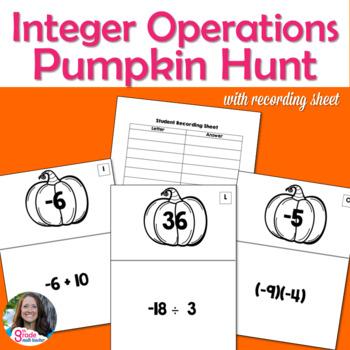 Fall Integer Operations Pumpkin Scavenger Hunt