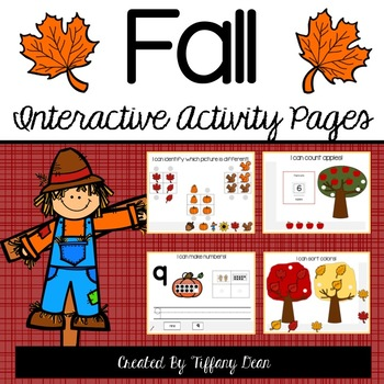 Fall Interactive Activity Binder