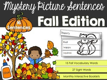 Writing Sentences - Mystery Pictures Fall Autumn