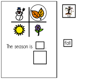 Fall - Interactive Adapted book