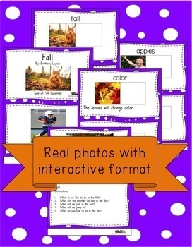 Fall Interactive Book and Song