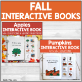 Fall Interactive Books with WH- Questions for Speech Thera