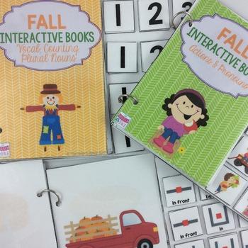 Fall Interactive Books: Vocab, Pronouns, & Prepositions