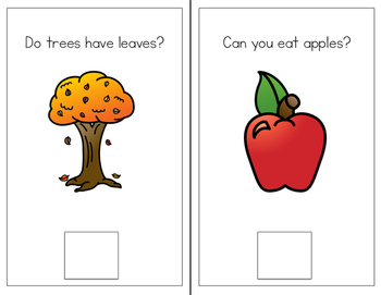 Fall Interactive Books Yes/No and WH Questions