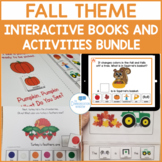 Fall Interactive Speech Therapy Books and Activities Bundle