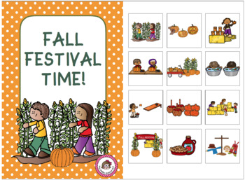 Fall Interactive Books for Speech/Language Therapy and Reading